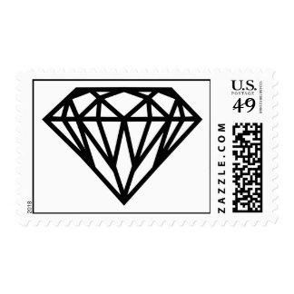 Gemstone jewelry postage stamps zazzle for Diamond stamp on jewelry