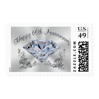 Diamond Stamps for 60th Anniversary Invitations