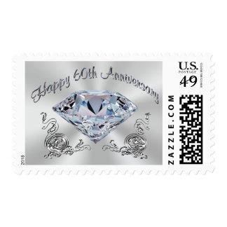 Diamond Stamps for 60th Anniversary Invitations