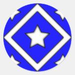 Diamond Star Design Blue Stickers
