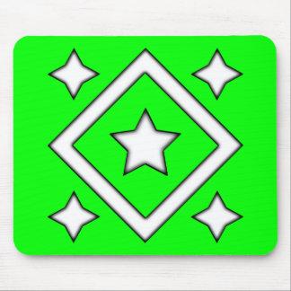 Diamond Star Design Green Mouse Pad