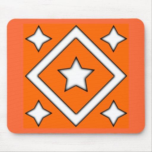 Diamond Star Design Orange Mousepad