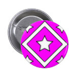 Diamond Star Design Pink Button