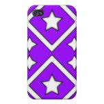Diamond Star Iphone 4 Case Purple