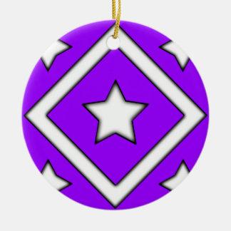 Diamond Star Ornament Purple