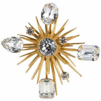 Diamond Starburst Ornament Photo Cutout