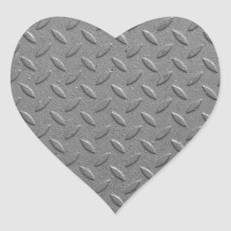 Diamond steel heart sticker