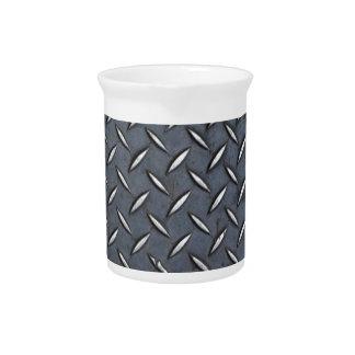 Diamond Steel Plate Drink Pitchers