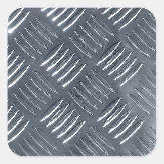 Diamond steel square sticker