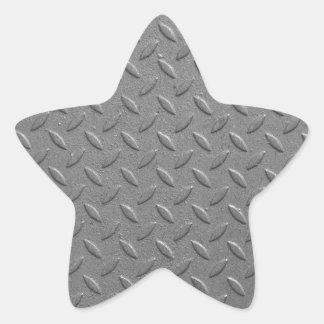 Diamond steel star sticker