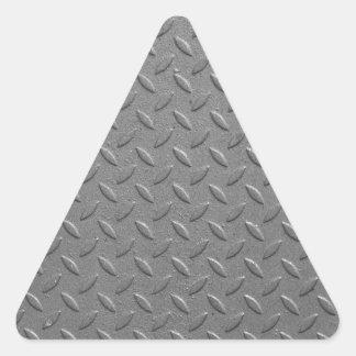 Diamond steel triangle sticker