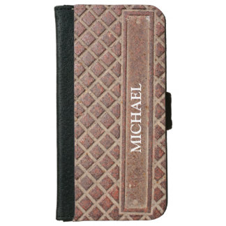 Diamond Stone in Brown With Name or Business Name iPhone 6/6s Wallet Case