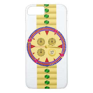 Diamond studded gold men's luxury watch iPhone 8/7 case