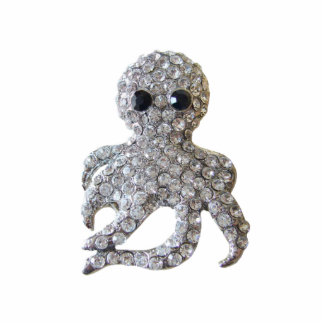 Diamond-Studded Octopus Sculpture