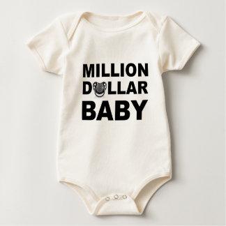 Diamond Studded Pacifier - Million Dollar Baby Baby Bodysuit