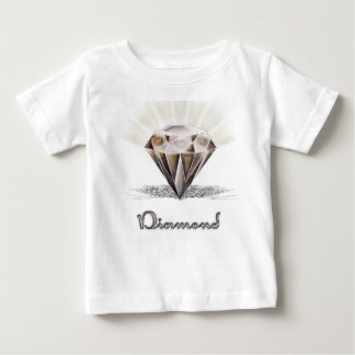 Diamond style black to cooper baby T-Shirt