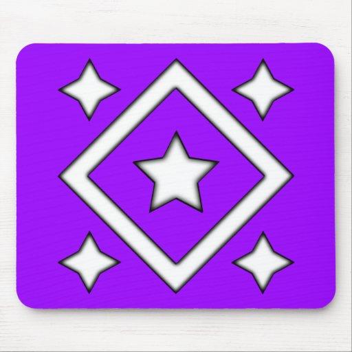 Diamond Style Design Purple Mouse Pad