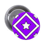 Diamond Style Design Purple Pinback Buttons