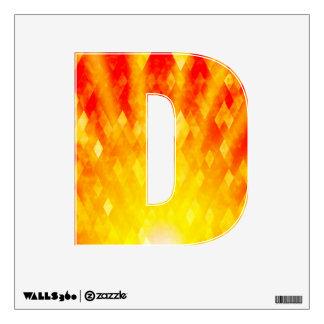 Diamond Sunburst Bright Geometric Design Wall Decal