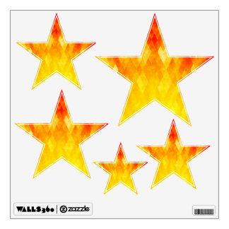 Diamond Sunburst Bright Geometric Design Wall Sticker