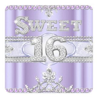 Diamond Sweet 16 Sixteen Party Purple Lilac Card