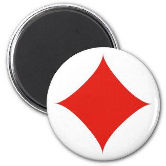 Diamond symbol magnet