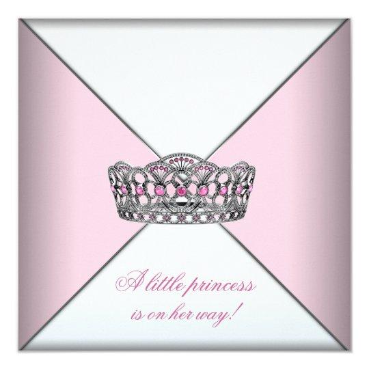 Diamond Tiara Pink Princess Baby Shower Card