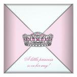 Diamond Tiara Pink Princess Baby Shower Custom Invites