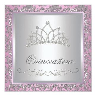 Diamond Tiara Pink Princess Party Invites