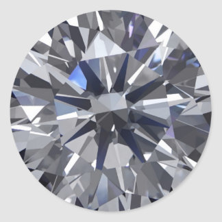 Diamond Too Classic Round Sticker