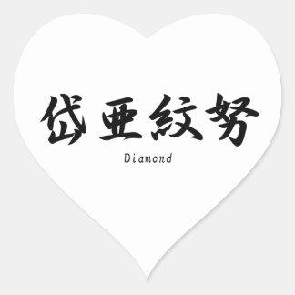 Diamond translated into Japanese kanji symbols. Stickers