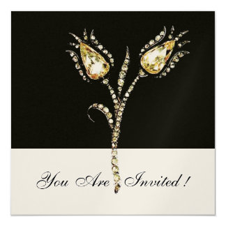 DIAMOND TULIPS ,Champagne Metallic Card