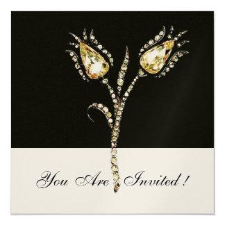 DIAMOND TULIPS ,Gold Metallic Card