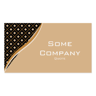 Diamond Waves (Hot Cocoa) Double-Sided Standard Business Cards (Pack Of 100)