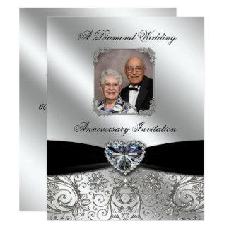 Diamond Wedding Anniversary 4.25x5.5 Photo Invite