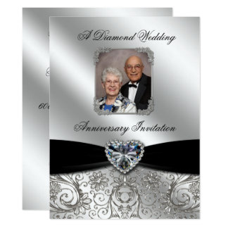 Diamond Wedding Anniversary 6.5x8.7 Photo Invite