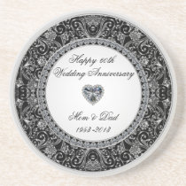 Diamond Wedding Anniversary Coaster