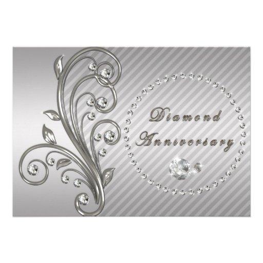 Diamond Wedding Anniversary Invitation