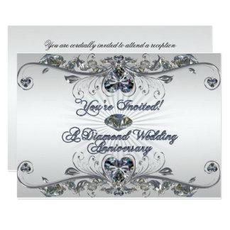 Diamond Wedding Anniversary Invitation Card