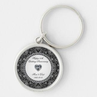 Diamond Wedding Anniversary Key Chain