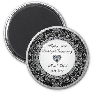 Diamond Wedding Anniversary Magnet Refrigerator Magnet