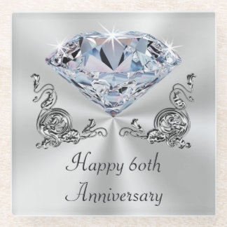 Diamond Wedding Anniversary Presents, Coasters