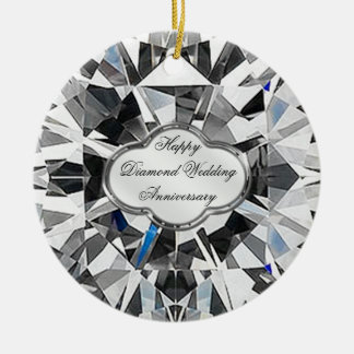 Diamond Wedding Anniversary Round Ornament