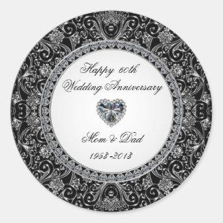 Diamond Wedding Anniversary Sticker