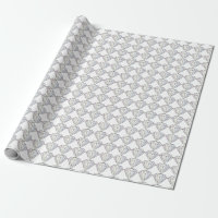 Diamond Wedding Anniversary Wrapping Paper