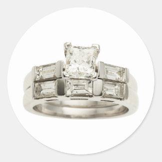 Diamond Wedding Engagement Ring Hint Hint Classic Round Sticker