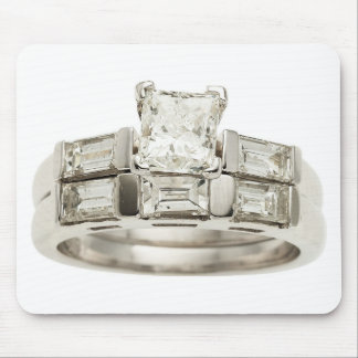 Diamond Wedding Engagement Ring Hint Hint Mousepads