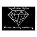 Diamond Wedding Greeting Card