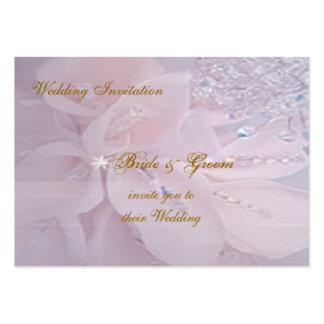 Diamond Wedding Invitation Large Business Cards (Pack Of 100)