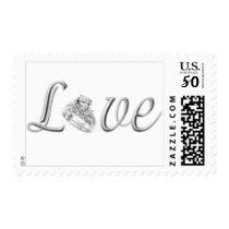 Diamond Wedding Ring Love Stamps